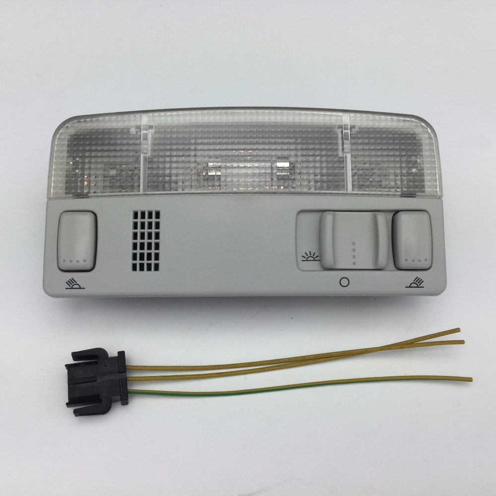 for VW Passat B5 Polo Touran Golf MK4 Skoda Octavia Gray Dome Light Reading Lamp Grey Color Wire Cable 1TD 947 105 3B0 947 105 C new oem ceiling rear dome reading lamp for golf gti r32 passat jetta beetle 1999 2005 3b0947291 3b0 947 291 beige grey