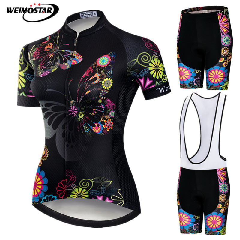 Weimostar 2019 Cycling Jersey Sets Women MTB Cycling Suit Breathable Bike Clothing Quick Dry Bicycle Wear Pro Cycling Clothing