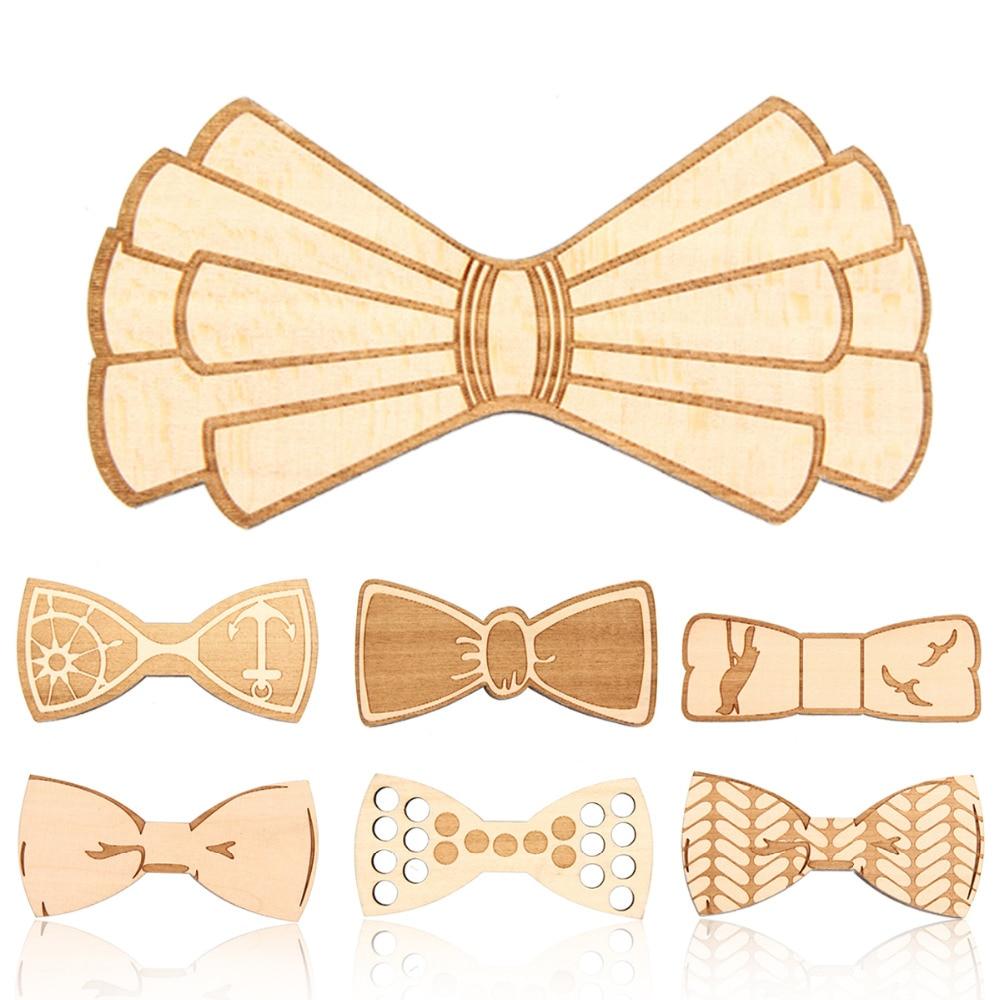 Wood Bow Tie Mens Wooden Bow Ties Business Butterfly Cravat Party Ties For Men Wood Ties Gravatas Corbatas