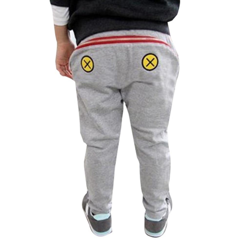 53b5217120 Projeto quente Do Bebê Crianças Meninos Meninas Zipper Harem Pants Criança  Calças Soltas Casuais