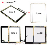 High Quality For Ipad 4 Touch Screen For Apple Ipad 2 Ipad 3 Glass Digitizer Home
