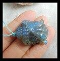 Натуральный камень резные головы будды лабрадорит ожерелья, 30 * 24 * 10 мм 13.3 г полудрагоценный камень вырезать godness ожерелье
