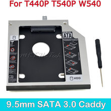 "CHIPAL profesional 2nd HDD Caddy 9,5mm 2,5 ""SATA 3,0 GB SSD caso HDD especial para Lenovo ThinkPad T440P t540P W540(China)"