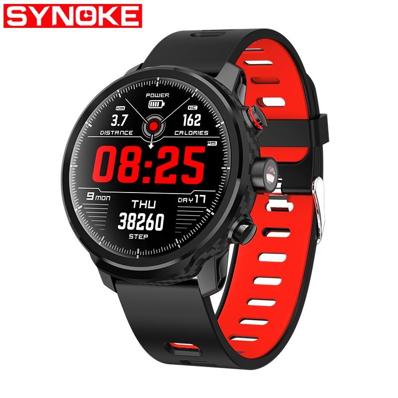 SYNOKE montre hommes de luxe étanche montre hommes Sport montre numérique temps Relogio Inteligente montre intelligente 2019 nouveau Relogios