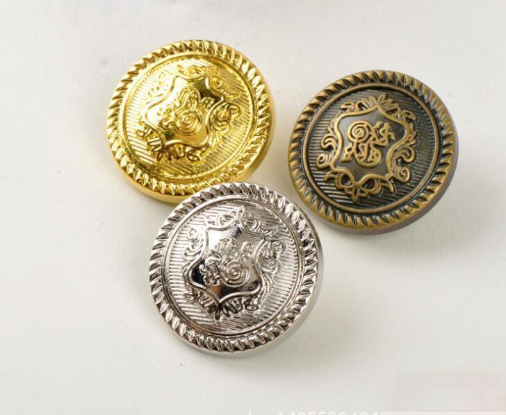 2018Hot Sale Botones Scrapbooking Accessories Plastic plating environmental protection golden bronze retro button 30pcs