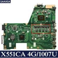 KEFU X551CA материнская плата для ноутбука ASUS X551CA X551CAP оригинальная материнская плата 100% тест 1007U 4G-RAM 1xslot