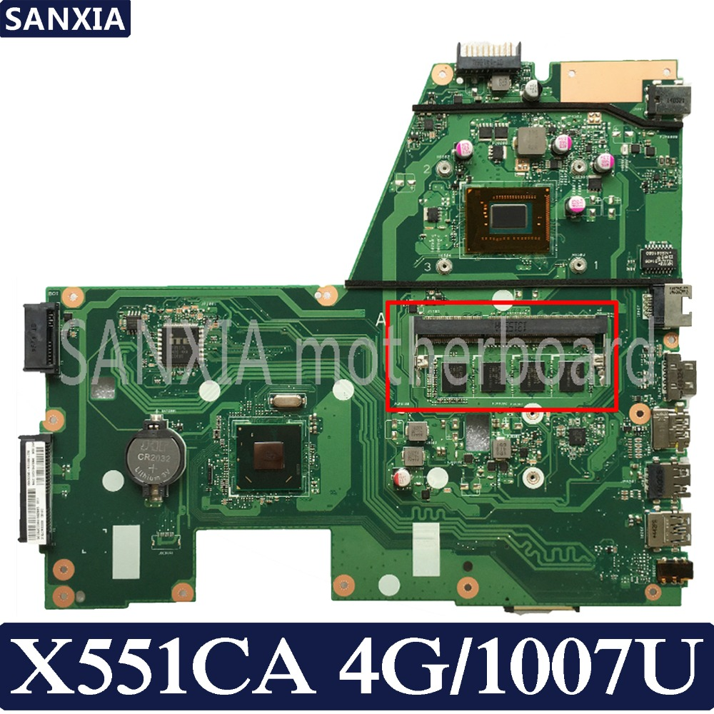 KEFU X551CA Laptop motherboard for ASUS X551CA X551CAP X551C X551 F551C F551CA Test original mainboard 1007U 4G RAM 1xSlot hot for asus x551ca laptop motherboard x551ca mainboard rev2 2 1007u 100% tested new motherboard