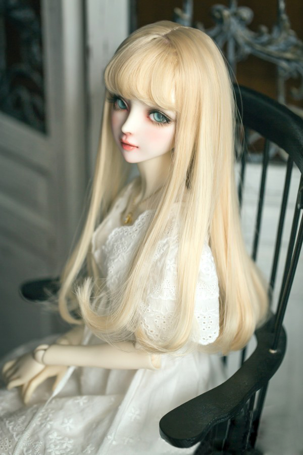 BJD Doll Wigs 1/3 Long Pear Curly Hair With Air Bangs High Temperature Wire For 1/6 1/4 1/3 BJD DD SD Doll Accessories