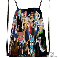 Custom One Piece Drawstring Backpack Bag for Man Woman Cute Daypack Kids Satchel Black Back 31x40cm