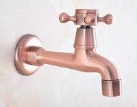 Antique Red Copper Brass Single Cross Handle Bathroom Mop Pool Faucet /Garden Water Tap / Laundry Sink Water Taps mav324