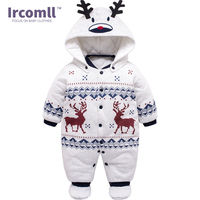 Warm Cotton Newborn Baby Boy Rompers 2016 Winter Christmas Clothes Children Infant Clothing For 0 12