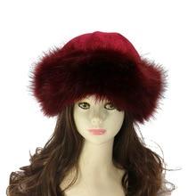 72cf29629bc Women Winter Hats New Lady Russian Tick Fluffy Fox Faux Fur Hat Headband  Winter Earwarmer Ski. 12 Colors Available