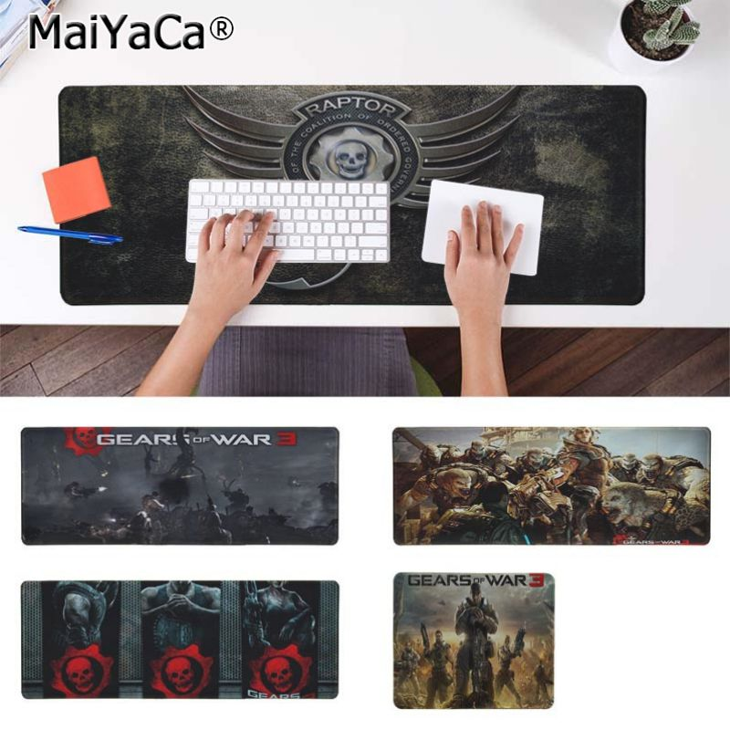 Yinuoda Boy Gift Pad Gears Of War Keyboard Gaming MousePads Size for 18x22cm 20x25cm 25x29cm 30x90cm 40x90cm
