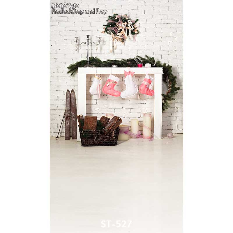 Christmas background vinyl photography backdrops Computer Printed christmas fire place for Photo studio ST-527 shanny vinyl custom photography backdrops prop digital printed christmas day photo studio background ntwg 593