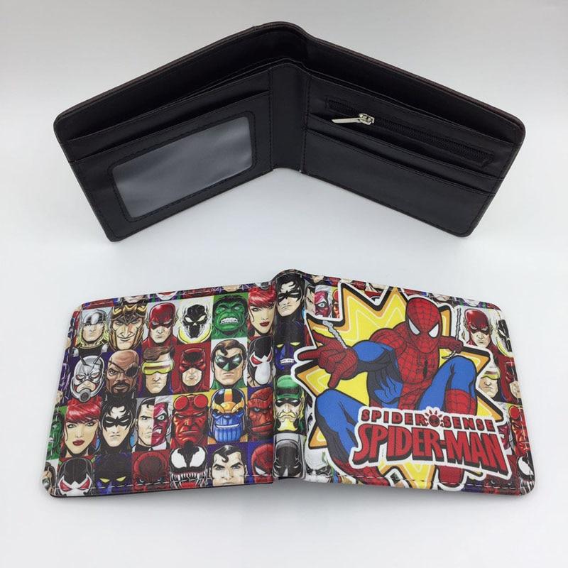 High Quality Hot Anime Spider-Man Boy/Girl Cartoon Zero Bag/Coin Purse Children/Student/Kids Gifts Zipper Wallet