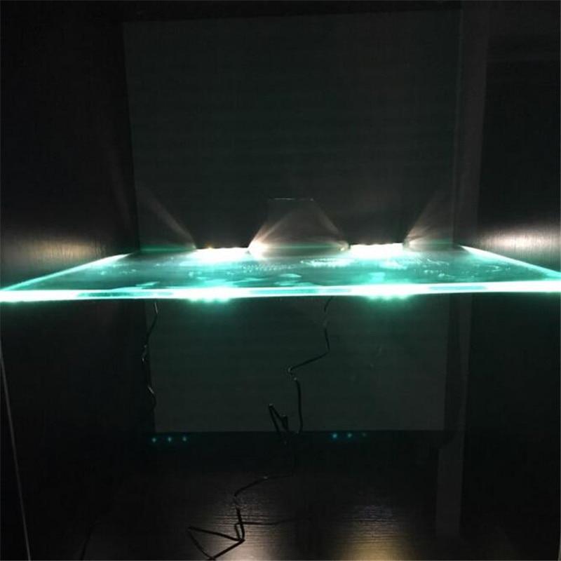 Onder Kast LED Verlichting voor Glas Rand Plank Terug Side Clip klem ...