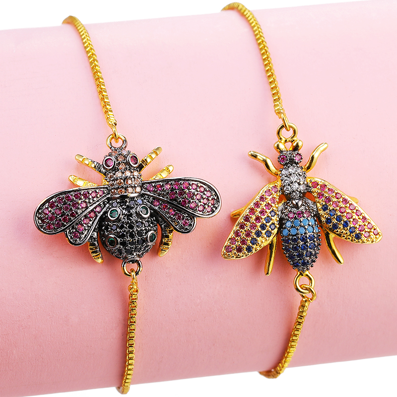 JUYA insect pull bracelet love crystal marble charm ladies Bohemian tassel jewelry wholesale Charm Bracelets