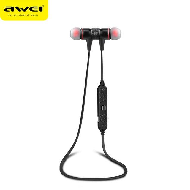 Оригинал Awei A920BL Smart Wireless Bluetooth 4.0 Спорт Стерео Музыку наушники-Вкладыши Шумоподавление Гарнитура с Микрофоном Для Мобильного Телефона