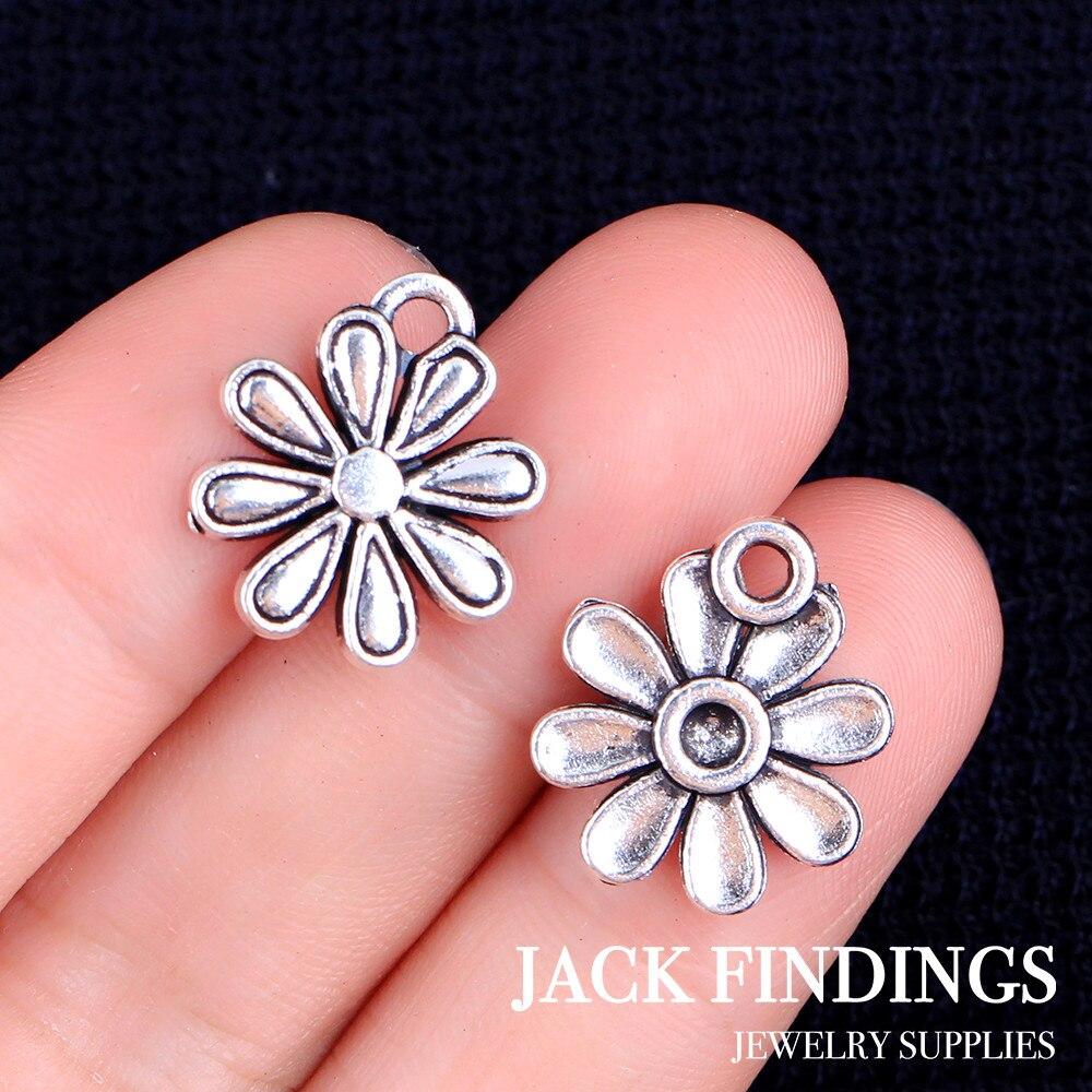 19 шт. 15 х15 мм Античные тибетские Серебряные Подвески Браслет Ожерелье Подвеска 2015 новые модные цветы