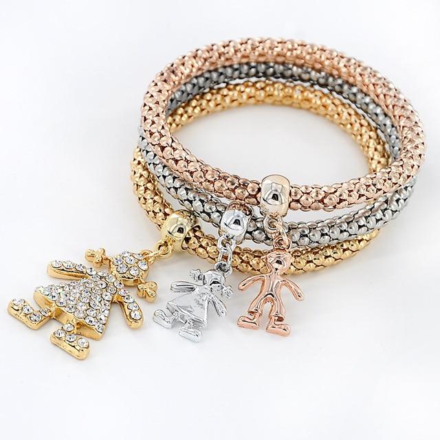 3 Colors Charm Bracelet Rhinestone Bracelets For Women Tom Hope Femme Pulseira Masculina Snap Jewelry