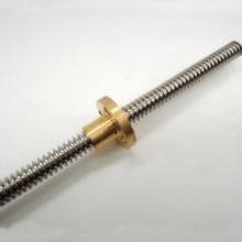 3D Printer THSL-800-8D Lead Screw Dia 8MM Pitch 2mm Lead 4mm Length 800mm with Copper Nut Free Shipping
