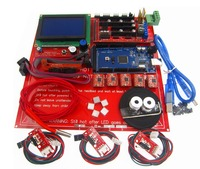 3D Printer Kit set Ramps 1.4 board +12864 LCD Screen + MK2B Heatbed + A4988 motor driver +Controller