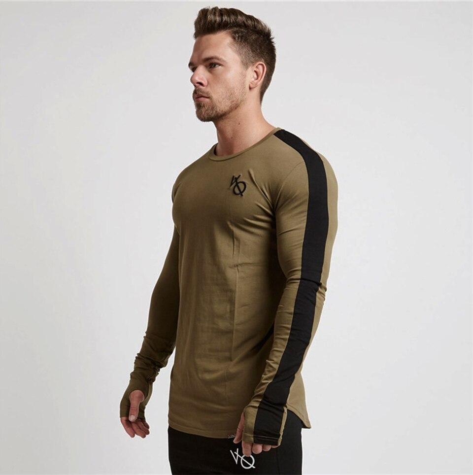 4ba81207b New outono nova camisa dos homens t de manga comprida manga raglan ...