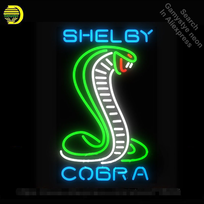 Neon Sign for Green Shelby Cobra Neon Tube Sign Shake commercial Light Garage handcraft Lamps Store Displays neon light sign