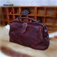 Women 100 Vegetable Tanned Genuine Leather Handbags Daily Bag High Capacity Top Grade Women Shoulder Bags