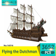 Lepin 16016 3652Pcs Movie Series Flying the Dutchman Blocks Bricks Toys For Children Compatible Pirates of the Caribbean