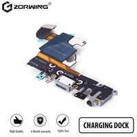 1 pièces Port De Chargement Dock USB Connecteur Flex Pour iPhone 5 5s 6 6 S 7 8 Plus Casque Audio Jack Micro câble Flexible