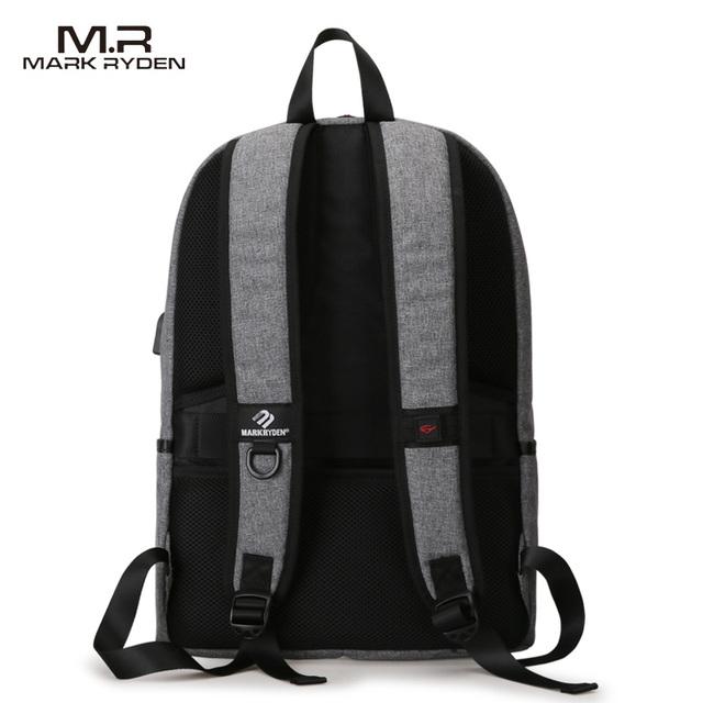 Mark Ryden New Arrivals four Colors USB design Backpack Men Male student backpack weekend Mochila