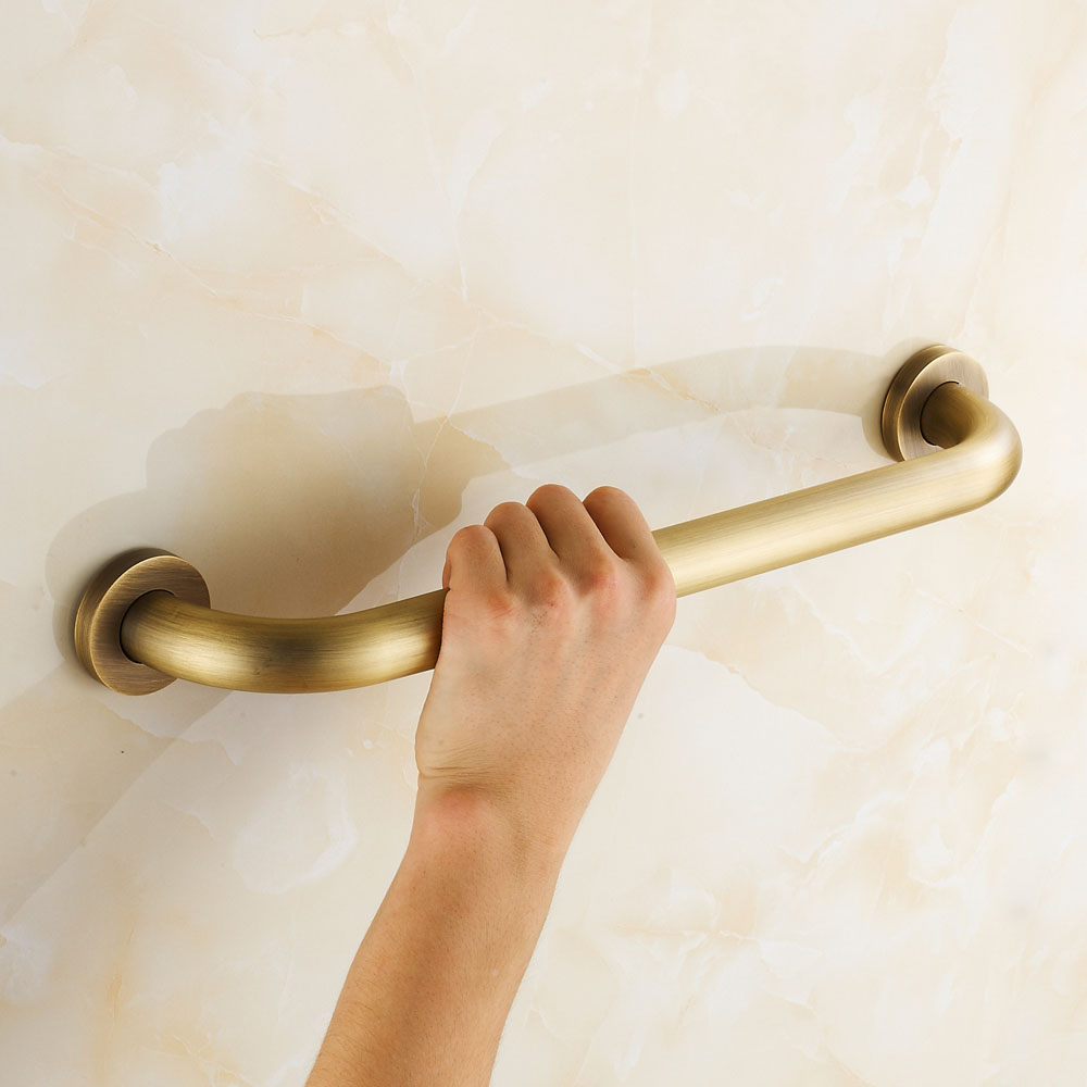 Bathroom Shower Knobs: Wall Mounted Antique Copper Grab Bars Bathroom Handle Bath