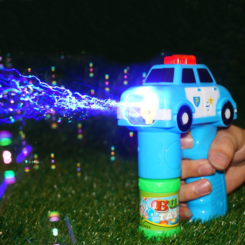 Outdoor Automatic Electric Bubble Toys For Children Fire Engine Soap Blow Bubbles Gun Machine Music Light Water Gun Kids Game image
