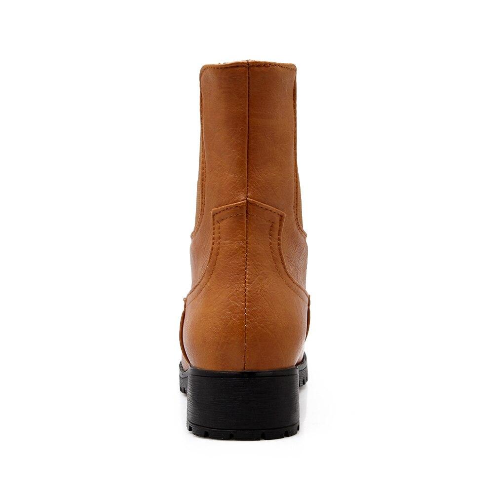 Mujer Zapatos Tamaños En Nueva Marca Mayor Negro Al Plush Más 43 Moda Sarairis Por Plush brown Add Negro black Resbalón Botas De Venta 34 marrón Z65xwW0