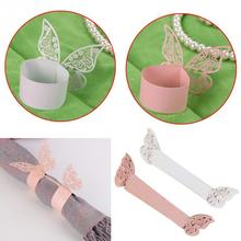 New 50pcs Napkin Rings Holder Wedding Dinner Decor Favor White / Pink