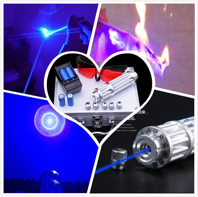 Blue Laser Pointers 500000m 450nm Burning Match/Dry Wood/Lit Candle/,Burn Cigarettes SOS ,Camping Signal Lamp Hunting shoot bird 100w 100000mw 450nm blue laser pointers sos burning match camping signal lamp burn cigarettes glasses charger box