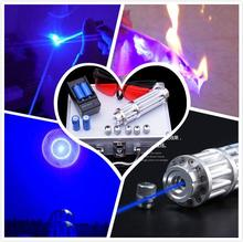 Blue Laser Pointers 500000mw 500w 450nm Burning Match/Dry Wood/Lit Candle/,Burn Cigarettes SOS ,Camping Signal Lamp Hunting