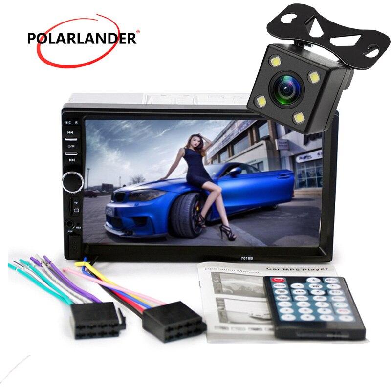 7 zoll Bluetooth 2 Din Spiegel Link Für Android 7.0 unterstützung Hinten Kamera auto Radio Player LCD Touch Screen Auto Audio FM 2 din