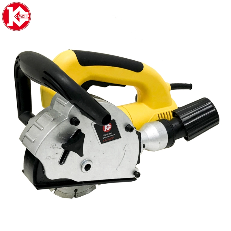 Wall chaser for cement groove cut Kalibr SHTBE-1500/125M, Power 1.5kW, Disk 2*125mm, Cutting Depth 8-30mm, Cutting Width 8-26mm talentool 25mm diamond cutting cut off blade wheel disc rotary tool for dremel with 2pcs mandrel