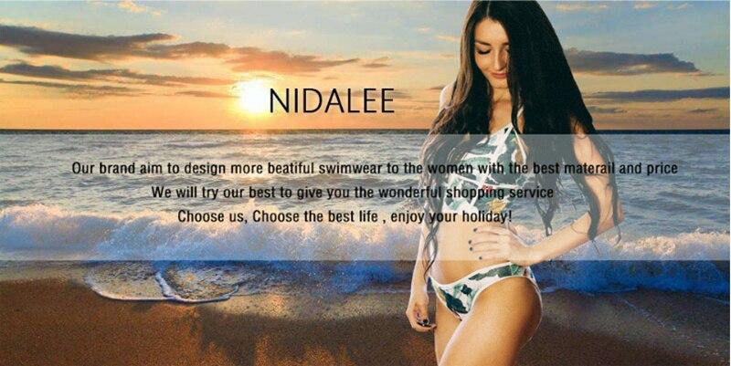 NIDALEE Sexy High Waist Bikini Women Swimwear Push Up Swimsuit Bathing Suit Bikini Set Dot Lace Biquinis Beach Wear Female