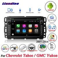 Liandlee для Chevrolet Tahoe/для GMC Yukon стерео радио видео камера BT CD dvd плеер gps карта навигатор навигационная система Android