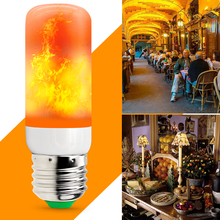 E27 Flame Lamp LED Bulb Effect Fire Light 220V Corn 2835 Flickering Candle 110V 42leds Decoration