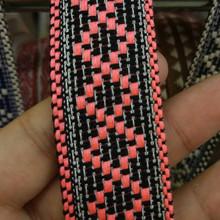 Webbing cotton jacquar Tape 3cm wide ethnic ribbon embroidery style trim accessory for bag/garment/homedeco 40Yards homedeco