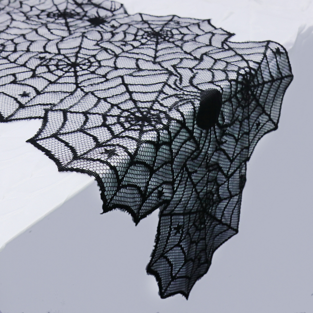 17x72 inch  Halloween decoration cobweb table runner ghost spider web mesh table decor festival table decorations supplies