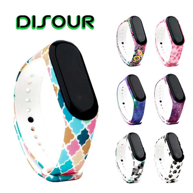 DISOUR Sport Mi Band 4 Strap Wrist Strap For Xiaomi Mi Band 3 Sport Silicone Bracelet For Mi Band 4 3 Band3 Smart Watch Bracelet