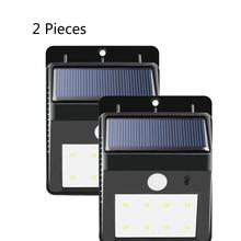 Solar Lamps luminaria Energia 8 LEDs Security Wireless Motion Sensor Solar Panels Power Outdoor Light LED Solar Lampe 2 Pieces