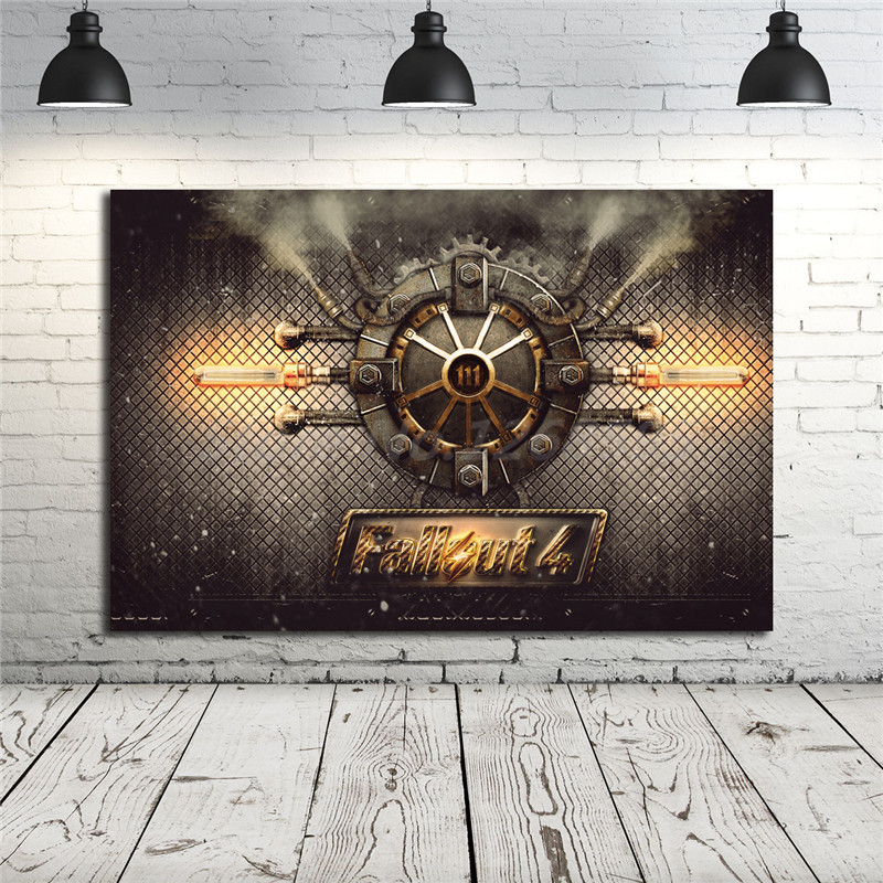 Fallout 4 Wallpaper Hd: Fallout 4 Vault Wallpaper HD Canvas Posters Prints Wall