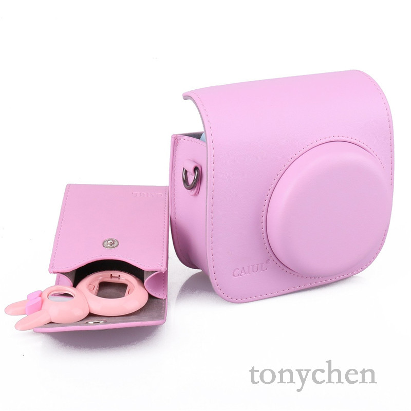 caiul 3 in 1 fujifilm instax mini 8 accessories bundle pink instax mini 8 camera case with. Black Bedroom Furniture Sets. Home Design Ideas