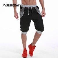 INCERUN Plus Size Men S Calf Length Shorts 2017 Summer Casual Joggers Gym Clothing Men Bermuda